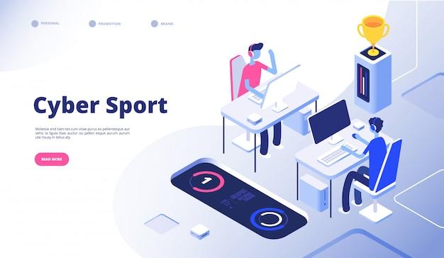 Cyber sport. strumień turniejów dla graczy esportuje gry wideo online z koncepcją gier na konsole komputerowe