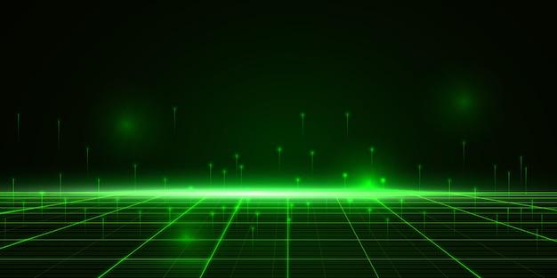 Cyber streszczenie tło technologii danych