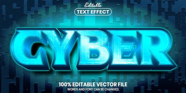 Cyber tekst, edytowalny efekt tekstowy w stylu czcionki