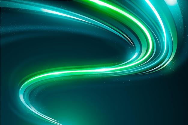 Cyber zielone tło światła neonowego
