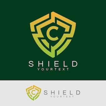 Cyberbezpieczeństwo początkowe litera c logo projektu