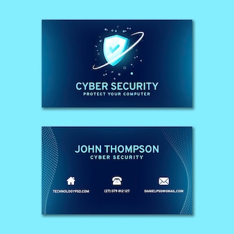 Cyberbezpieczeństwo poziome wizytówki