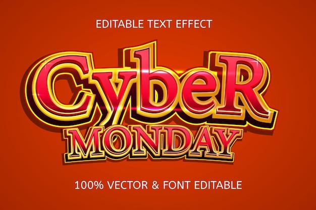 Cybercafe poniedziałkowy styl elegancki edytowalny efekt tekstowy