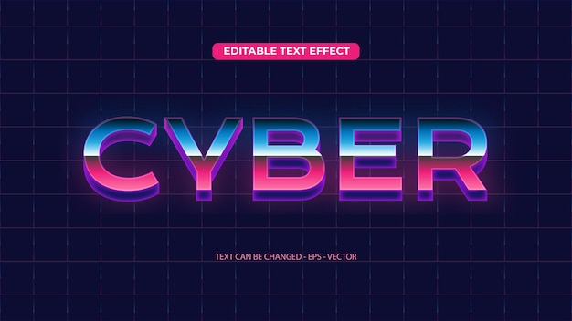 Cybernetyczny efekt tekstu retro
