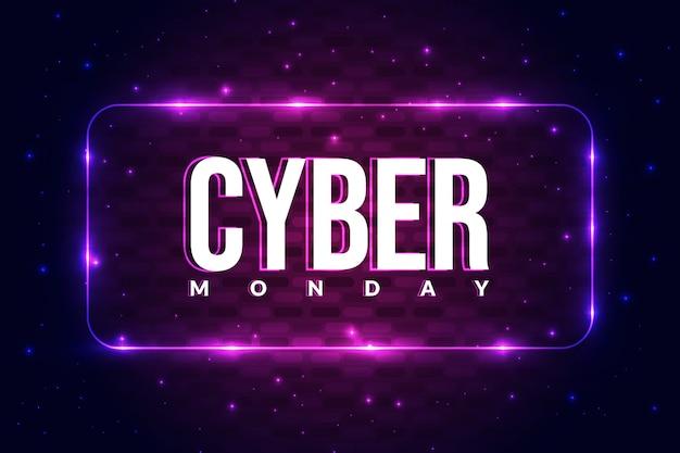 Cybernetyczny poniedziałek plakat tło z świecące koncepcja.