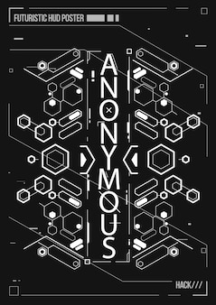 Cyberpunk futurystyczny plakat. szablon retro futurystyczny plakat. układ muzyki elektronicznej.