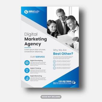 Cyfrowa agencja marketingowa lub szablon ulotki korporacyjnej