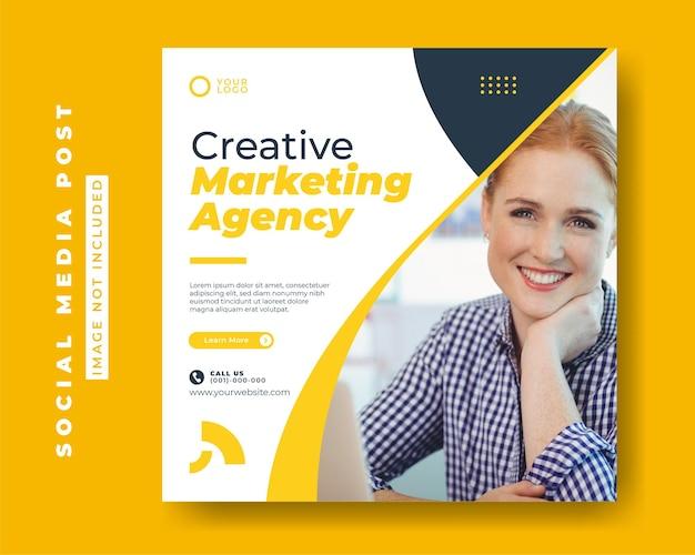 Cyfrowa agencja marketingu biznesowego szablony postów w mediach społecznościowych kwadratowych