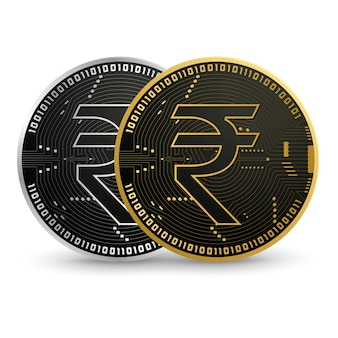 Cyfrowa czarna rupia cyfrowa