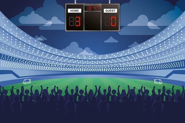Cyfrowa ikona na białym tle tablicy wyników turnieju