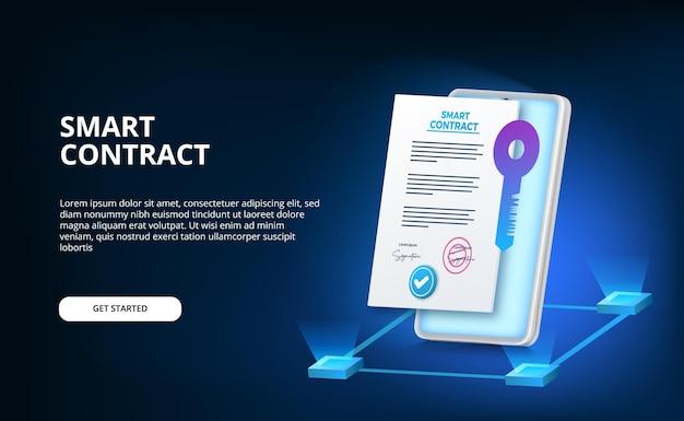 Cyfrowa inteligentna umowa dotycząca bezpieczeństwa umowy podpisu elektronicznego, finansów, prawa korporacyjnego.