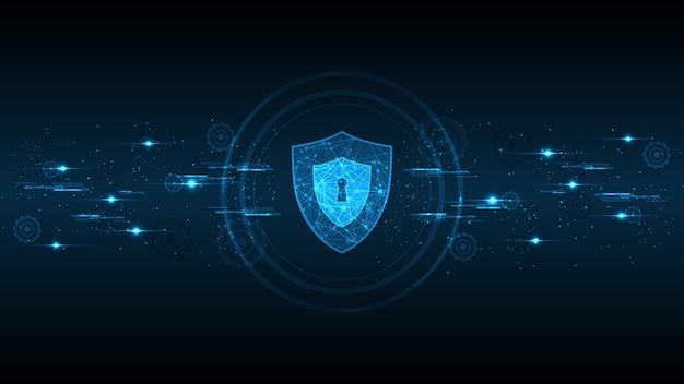 Cyfrowa koncepcja bezpieczeństwa kłódki