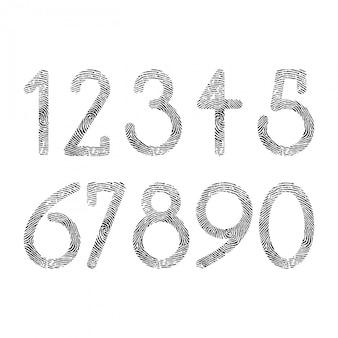 Cyfrowa konstrukcja odcisków palców