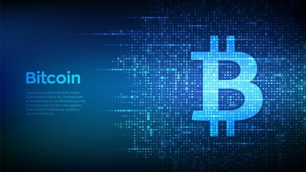 Cyfrowa kryptowaluta bitcoin ilustracja