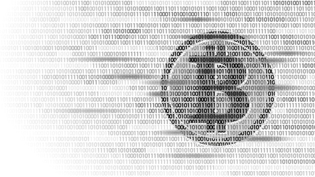 Cyfrowa kryptowaluta bitcoin podpisuje numer kodu binarnego.