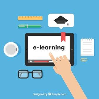Cyfrowa nauka z osobą za pomocą tabletu
