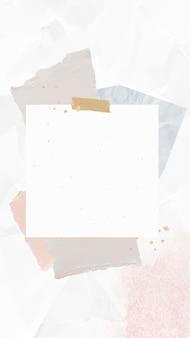 Cyfrowa notatka wektor papier notatka kolaż z zgranym papierem