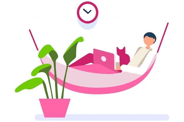 Cyfrowa osoba kobieta pracuje w domu