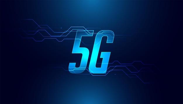 Cyfrowa szybka technologia mobilna 5g piątej generacji