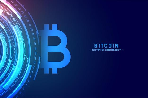 Cyfrowa technologia bitcoin koncepcja tło kryptowaluta