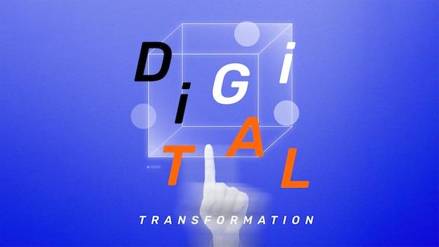 Cyfrowa transformacja szablon wektor futurystyczna technologia