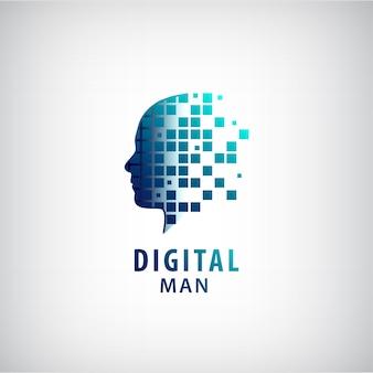 Cyfrowe logo człowieka.