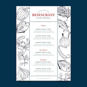 Cyfrowe menu dla restauracji w formacie pionowym