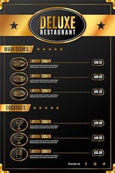 Cyfrowe menu restauracji deluxe