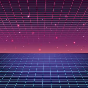 Cyfrowe niebieskie i fioletowe tło