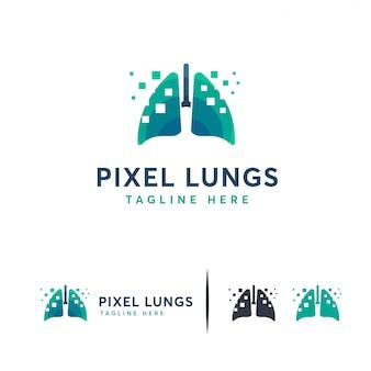 Cyfrowe płuca, logo pixel lungs