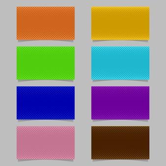 Cyfrowe półtonów wzór okręgu wizytówkę szablon projektu tła zestaw - wektor design karty nazwa z kolorowymi kropkami