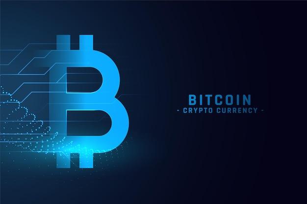 Cyfrowe tło koncepcja technologii bitcoin