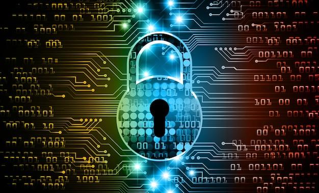 Cyfrowe tło zamkniętej kłódki, bezpieczeństwo cybernetyczne