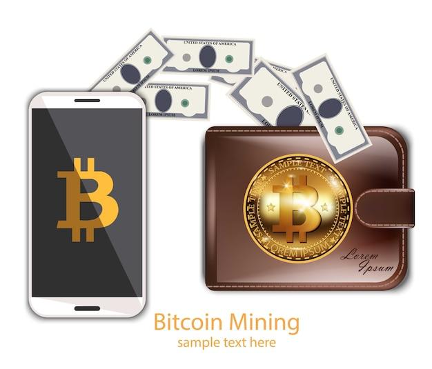 Cyfrowe wydobywanie bitcoinów z telefonu komórkowego