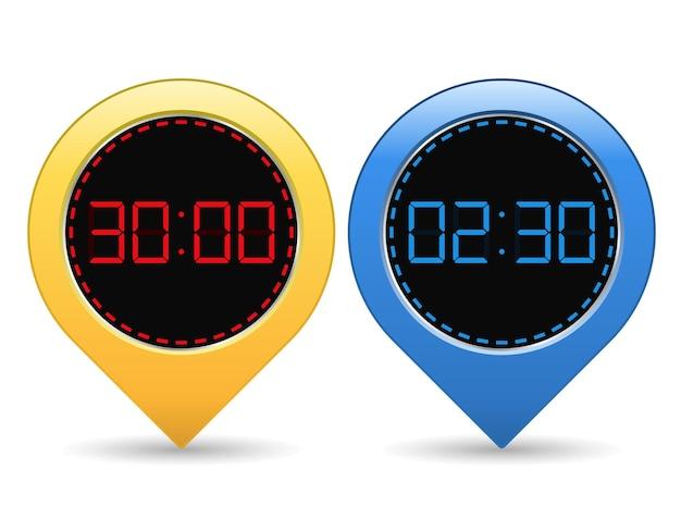 Cyfrowe zegary, ilustracja