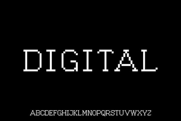 Cyfrowy alfabet wyświetlany z czcionkami