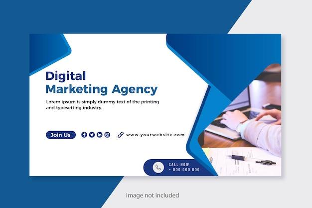 Cyfrowy baner marketingowy dla biznesu