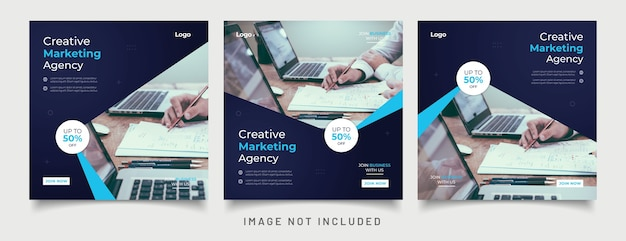 Cyfrowy baner marketingowy dla szablonu postu w mediach społecznościowych