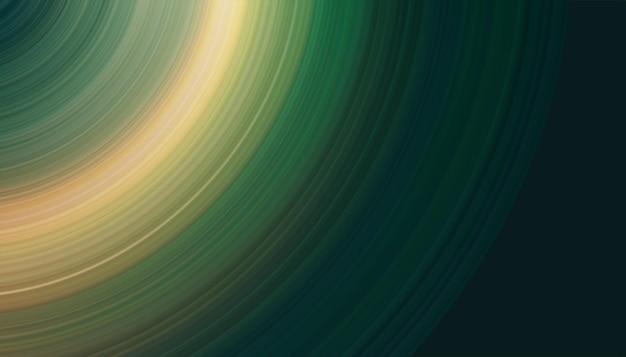 Cyfrowy baner sztuki okrągłe świecące linie abstrakcyjnego futurystycznego tła technologicznego