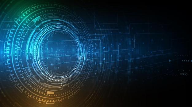 Cyfrowy biznes, krąg technologii i technologia tło.
