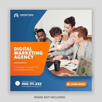 Cyfrowy biznes marketingowy baner postu na instagramie