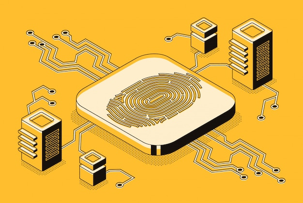 Cyfrowy dostęp bezpieczeństwa z danymi biometrycznymi