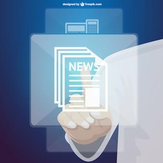 Cyfrowy dotykowy technologia informacyjna