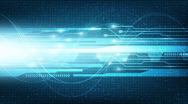 Cyfrowy futurystyczny obwód światła prędkości z technologią sieciową na tle przyszłości, cyfrowym i połączeniem