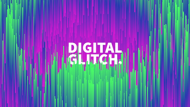 Cyfrowy glitch efekt wektor streszczenie tło