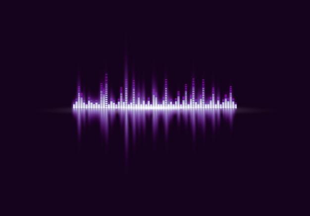 Cyfrowy korektor abstrakcyjny, fala dźwiękowa.