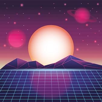 Cyfrowy krajobraz górski