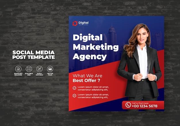 Cyfrowy marketing biznesowy dla social media post szablon