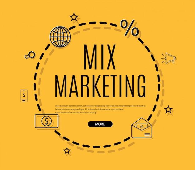 Cyfrowy marketing, e-mail, biuletyn i infografika subskrypcji