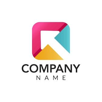 Cyfrowy marketing wektor logo ikona ilustracja